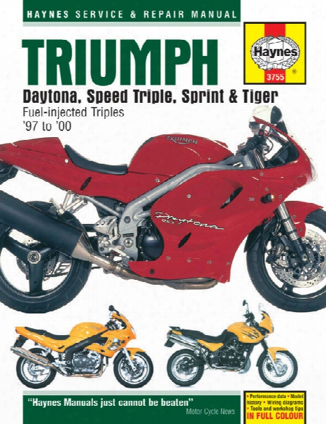 Haynes Triumph Daytona Speed Triple Sprint & Tiger Superbike 1997-2000