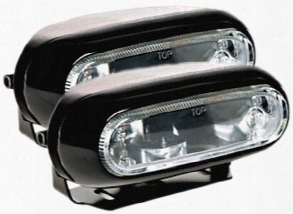 Hella Optilux 1200 Black Rectangular Fog Lamp Kit