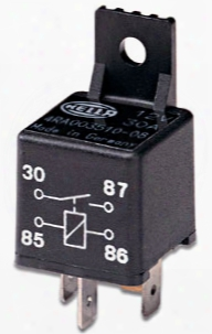 Hella Replacement 30 Amp Spst Mini-relay With Bracket