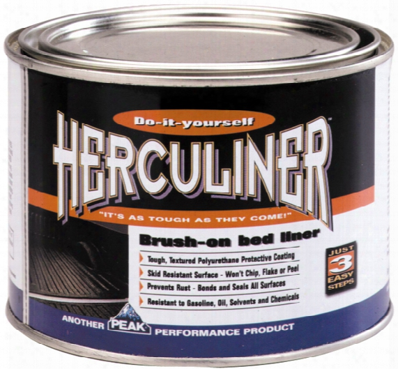 Herculiner Black Brush-on Truck Bed Liner Quart