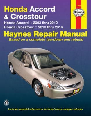 Honda Accord & Crosstour Haynes Repair Manual 2003-2014