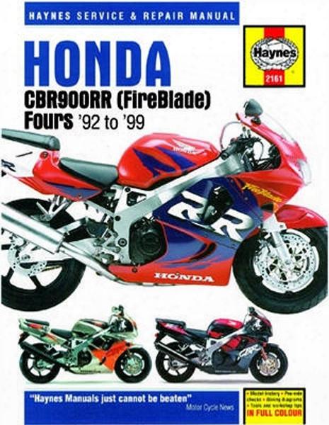 Honda Cbr900rr Fireblade Haynes Repair Manual 1992 - 1999