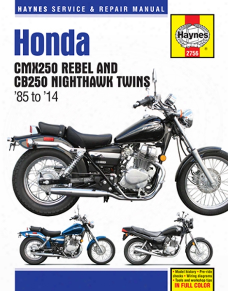 Honda Cmx250 Rebel & Cb250 Nighthawk Twins 1985-2014