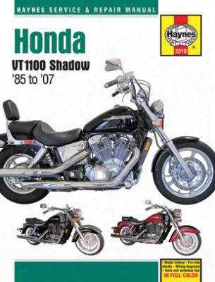 Honda Shadow Vt1100 Haynes Repair Manual 1985 - 2007