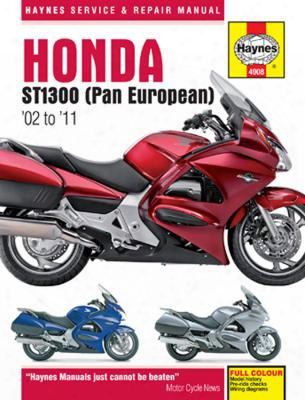 Honda St1300 & St1300a Haynes Repair Manual 2002-2011