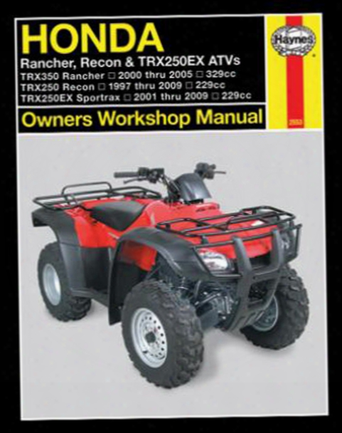 Honda Trx Haynes Repair Manual 1997 - 2009