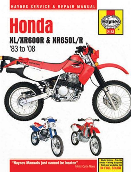 Honda Xl/xr600r And Xr650l/r Haynes Repair Manual 1983 - 2008