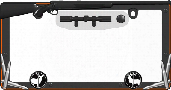 Hunter Black & Orange License Plate Frame Kit