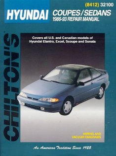Hyundai Coupes/sedans 1986-93 Chilton Manual
