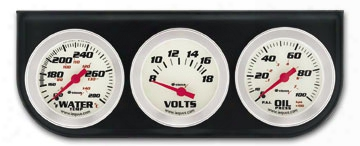 "Iequus Performance 2"" Oil Voltage & Water Gauge Kit"