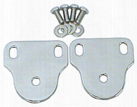 Jeep Cj & Wrangler Polished Steel Interior Windshield Brackets 1976-1995