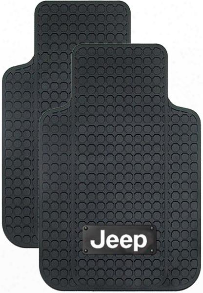 Jeep Logo Truck Rubber Floor Mat Pair