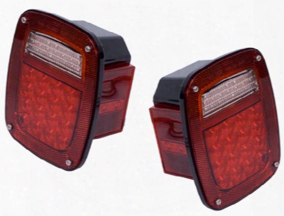 Jeep Wrangler & Cj Led Tail Light Assembly Set 1976-2006