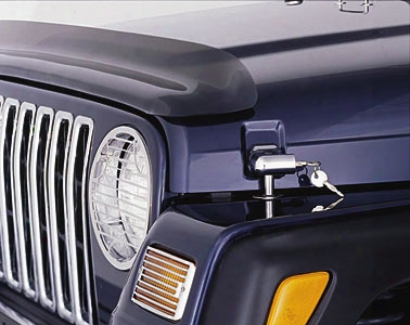 Jeep Wrangler & Unlimited Chrome Locking Hood Catch Kit 1997-2006