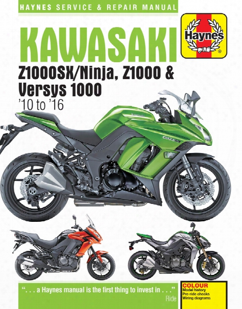 Kawasaki Z1000 Z1000sx & Versys Haynes Repair Manual 2010-2016