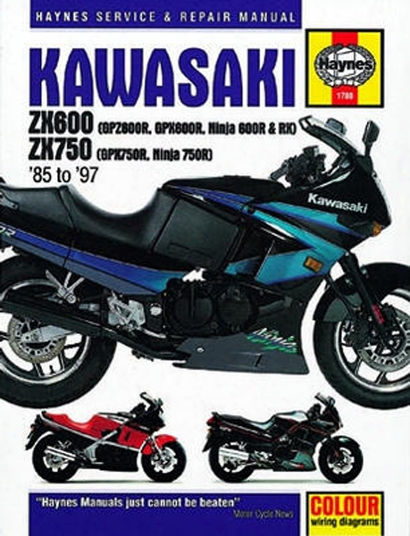 Kawasaki Zx600 Zx 750 Haynes Repair Manual 1985 - 1997
