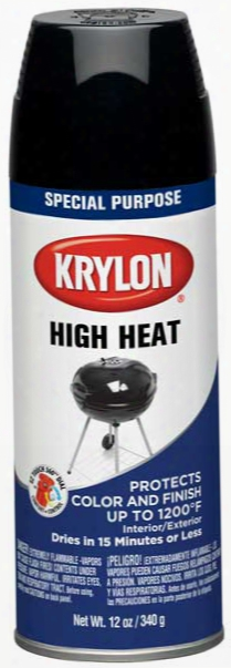 Krylon High Heat Black Spray Paint 12 Oz.