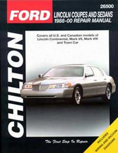 Lincoln Coupes & Sedans Chilton Repair Manual 1988-2000