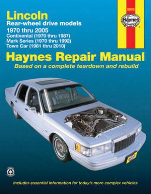Lincoln Rear-wheel Drive Haynes Repair Manual 1970-2010