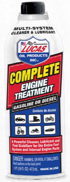 Lucas Complete Engine Treatment Cleaner & Lubricator 16 Oz