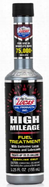 Lucas High Mileage Fuel Treatment 5.25 Oz