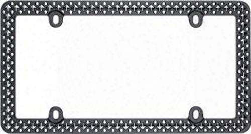 Matte Black/chrome Defender License Plate Frame