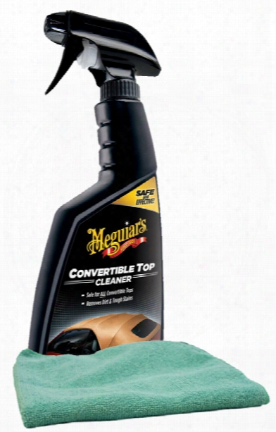 Meguiars Convertible Top Cleaner 16 Oz Microfiber Cloth Kit
