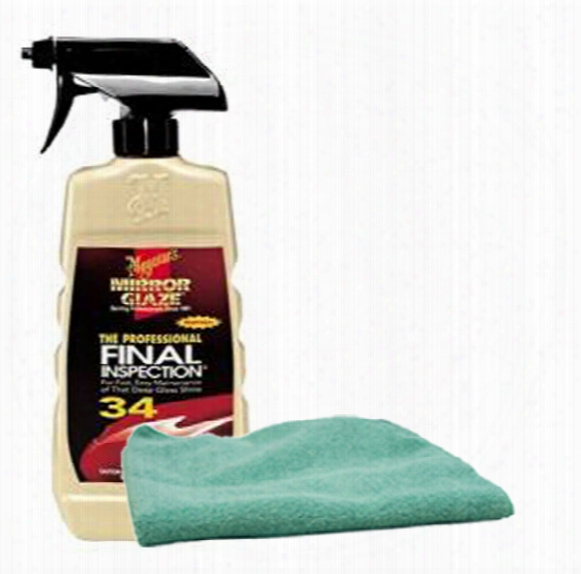 Meguiars Professional Final Inspection Detailer 16 Oz. Microfiber Cloth Kit