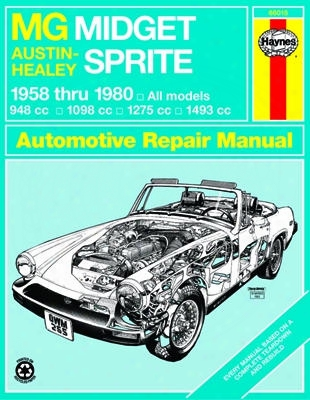 Mg Midget & Austin-healy Sprite Haynes Repair Manual 1958-1980