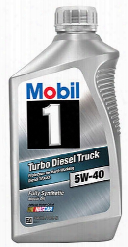 Mobil 1 5w40 Turbo Diesel Truck Synthetic Motor Oil 1qt