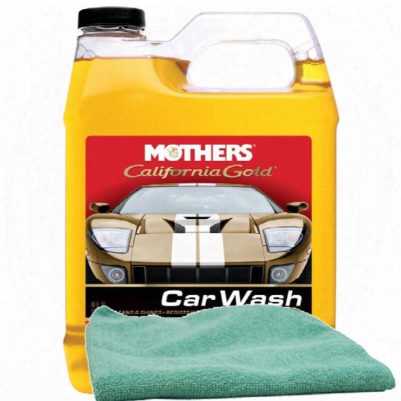 Mothers 64 Oz. California Gold Car Wash & Microfiber Cloth Kit
