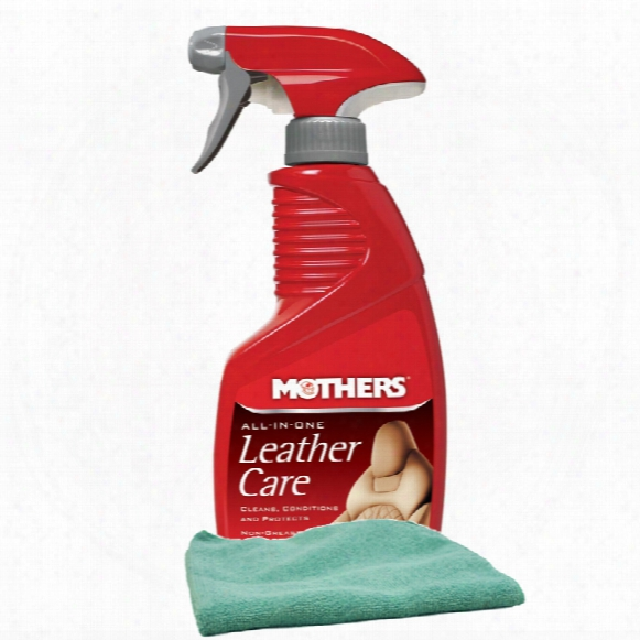 Mothers All-in-one Leather Care 12 Oz Microfiber Cloth Kit