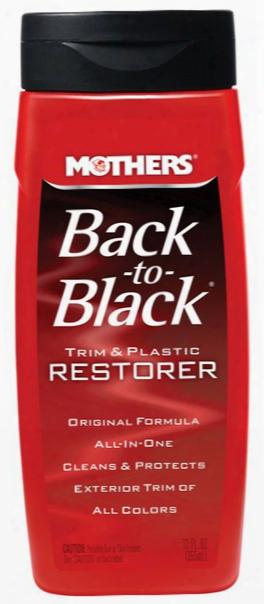Mothers Black-to-black Trim & Plastic Restorer 12 Oz