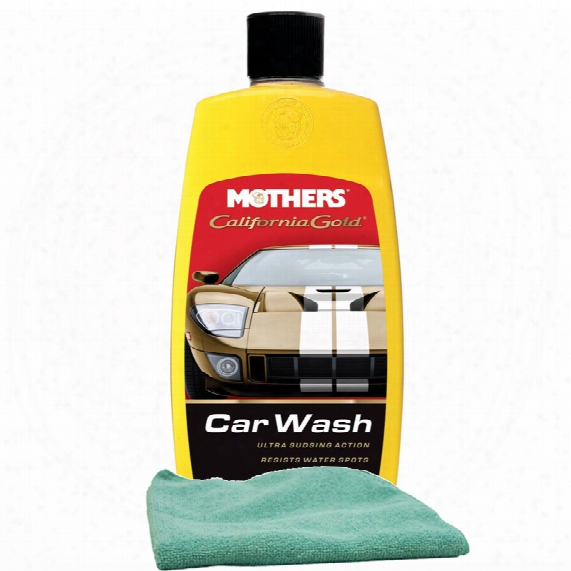 Mothers California Gold Car Wash 16 Oz. & Microfiber Cloth Kit