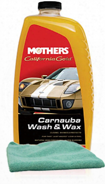 Mothers California Gold Carnauba Wash & Wax 64 Oz Microfiber Cloth Kit