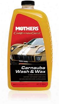 Mothers California Gold Carnauba Wash & Wax 64 Oz