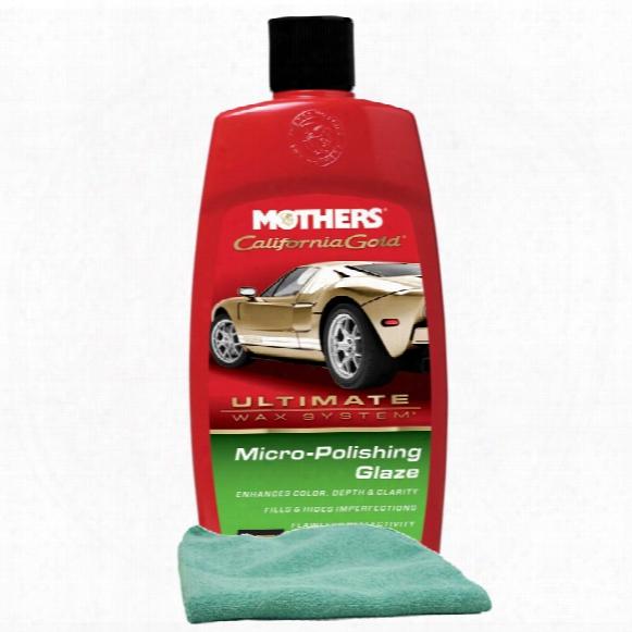 Mothers California Gold Micro-polishing Glaze 16 Oz & Microfiber Cloth Kit