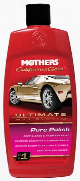 Mothers California Gold Pure Polish Pre Wax Cleaner 16 Oz