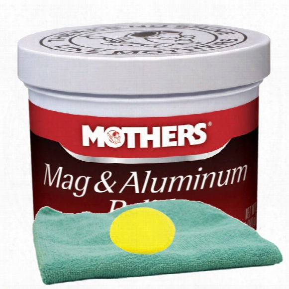 Mothers Mag & Aluminum Polish 5 Oz. Microfiber Cloth & Foam Pad Kit