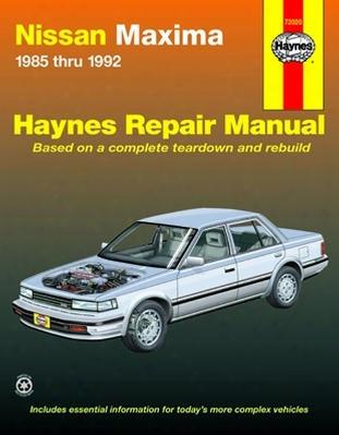 Nissan Maxima Haynes Repair Manual 1985 - 1992