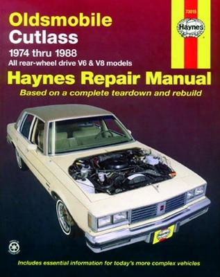 Oldsmobile Cutlass Haynes Repair Manual 1974 - 1988