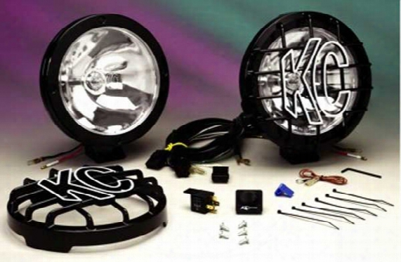 "Rally 800 8"" Black Steel Long Range Off Road Light Kit"