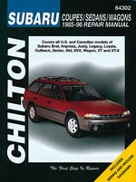 Subaru Coupes/sedans/wagons 1985-96 Chilton Manual