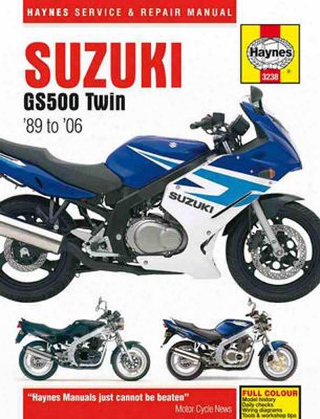 Suzuki Gs500 Twin Haynes Repair Manual 1989 - 2006