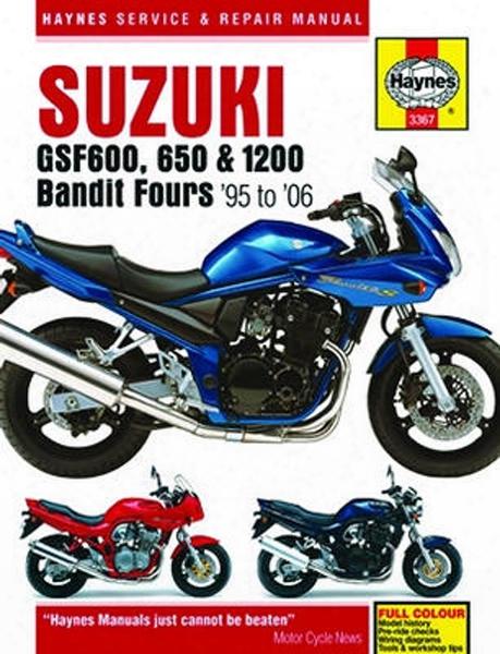 Suzuki Gsf600 Haynes Repair Manual 1995 - 2006