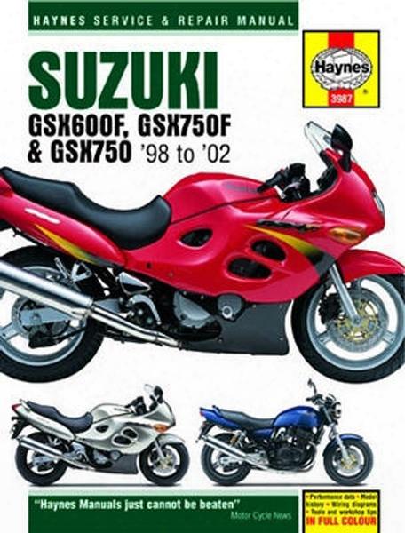 Suzuki Gsx600f Haynes Repair Manual 1998 - 2002