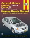 Chevrolet Cobalt & Pontiac G5 Haynes Repair Manual 2005-2010