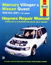 Mercury Villager & Nissan Quest Haynes Repair Manual 1993-2001