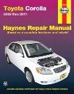 Toyota Corolla Haynes Repair Manual 2003-2011