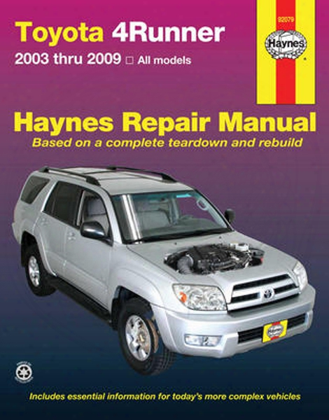 Toyota 4runner Haynes Repair Manual 2003-2009